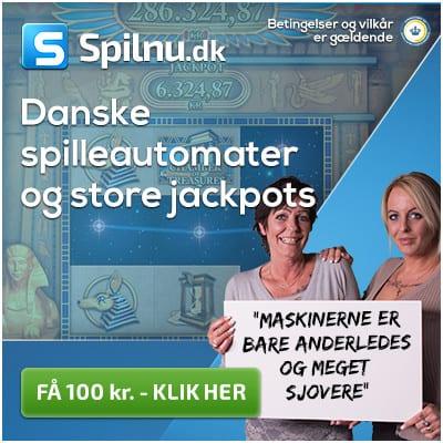 Få 100 kr til danske spilleautomater